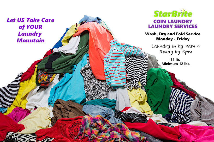 StarBrite Coin Laundry Wash and Fold Service Lewisville TX - Let Us Take Care of Your Laundry Mountain
